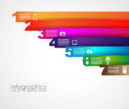 Timeline to display your data with Infographic elements Stock Image