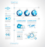 Timeline to display your data with Infographic elements Stock Photo