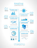 Timeline to display your data with Infographic elements Royalty Free Stock Photography