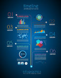 Timeline to display your data with Infographic Stock Photo