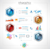 Timeline to display your data in order with Infographic elements Royalty Free Stock Image