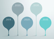 Timeline Vector 3d Infographic 6 Royalty Free Stock Photos
