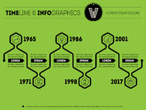 Timeline vector infographic with icons and text. Can be used for Royalty Free Stock Photo