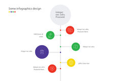 Timeline vector infographic. Minimalistic design template.  Page for presentation. Royalty Free Stock Photography