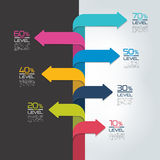 Timeline vertical report, template, chart, scheme, step by step infographic. Stock Images