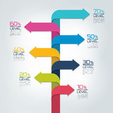 Timeline vertical report, template, chart, scheme, step by step infographic Stock Photography