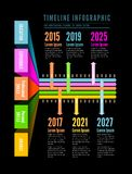 Timeline Web Element Template Stock Image