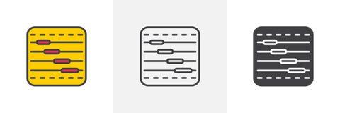 Timelinediagramsymbol stock illustrationer
