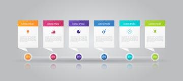 TimelineInfographics mall för affären, utbildning, rengöringsdukdesign, baner, broschyrer, reklamblad vektor illustrationer