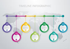 Timelineinfographicsmall Royaltyfria Bilder