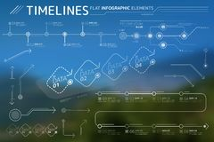 Timelines Flat Infographic Elements Collection. Corporate Infographic Elements is an excellent collection of vector graphs, charts and diagrams royalty free illustration