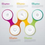 Timelinevektor 3d Infographic Arkivbild