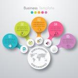 Timelinevektor 3d Infographic Fotografering för Bildbyråer