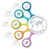 Timelinevektor 3d Infographic Arkivfoton