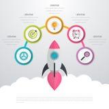 Timelinevektor 3d Infographic Arkivfoto