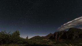 Timelpase风景在落矶山,褐红的Snowmass原野 股票视频