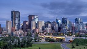 Timelpase di skylin di Calgary archivi video