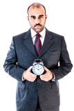 Timely businessman Royalty Free Stock Photo