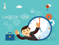 Timemanagement. Lack of time concept. Businessman Stock Images