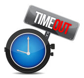 Timeout concept. Illustration design over a white background Stock Photos