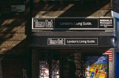 Timeout - London Newsagent. A newsagent in London royalty free stock photo
