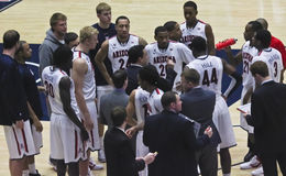 At a Timeout, Sean Miller Coaches Royalty Free Stock Photo