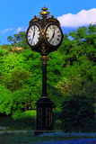 Timepiece. Cismigiu Garden in Bucharest - a genuine French legacy Stock Image