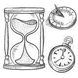 Timepieces sketch Stock Image