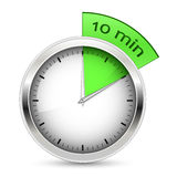 Timer. 10 minutes. Timer  illustration Stock Photography
