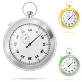Timer. Set of Timers with Various Colors, vector illustration Stock Photos