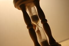 Timer. The passing of time, close up of sand timer Royalty Free Stock Photography