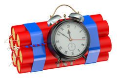 Timer bomb 3D. On white background Royalty Free Stock Photo