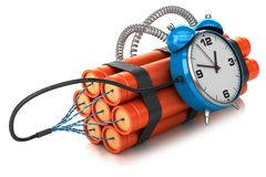 Timer bomb  Royalty Free Stock Photos