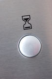 Timer button. An hourglass illustration above a button for a timer Royalty Free Stock Images