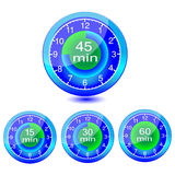 Timer button.Vector Royalty Free Stock Photos