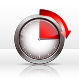 Timer clock. 15 minutes. vector illustration Vector Illustration