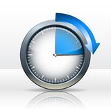 Timer clock. 15 minutes. vector illustration Royalty Free Illustration
