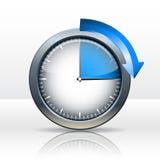 Timer clock. 15 minutes. vector illustration royalty free illustration