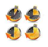 Timer clocks.  illustration Royalty Free Stock Photos