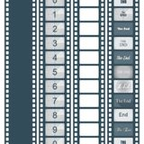 Timer countdown cinema isolated from the background. Set of options, The end. Vector illustration Stock Photography