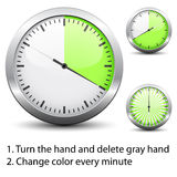 Timer - easy change time every one minute Stock Images