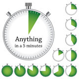 Timer - easy change time every one minute Stock Photos