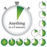 Timer - einfache Änderungszeit jedes Minute stock abbildung