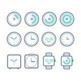 Timer eingestellt Vielzahl der Uhrikonen Dieses ist Datei des Formats EPS10 Lizenzfreie Stockfotografie