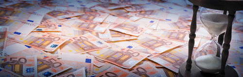 Timer euro - loan concept stock photo