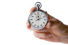 Timer hold with 3 fingers Royalty Free Stock Photo