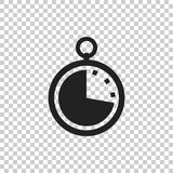 Timer icon illustration. Flat vector clock pictogram Royalty Free Stock Photography