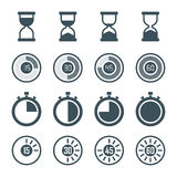 Timer icon set Stock Images