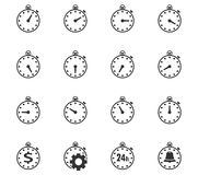 Timer icon set Royalty Free Stock Photography