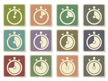 Timer Icon Set Stock Photography
